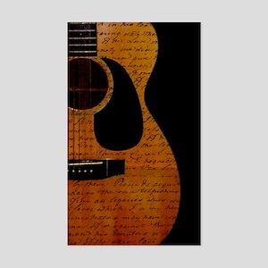 Guitarist Notes Rectangle Sticker