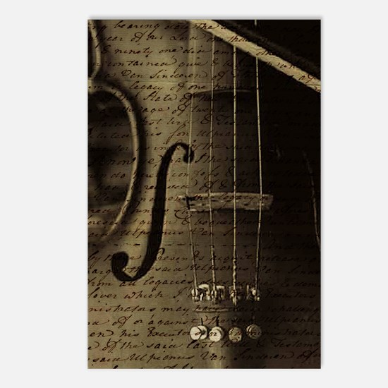 Violin Notes Postcards (Package of 8)