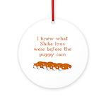 Shiba Puppy Cam Ornament (Round)