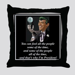"""Obama's Secret"" Throw Pillow"