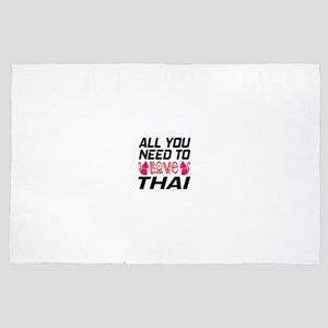 All You Need To Love Thai Cat 4' x 6' Rug