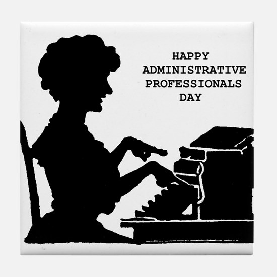 Cute Personal assistant Tile Coaster