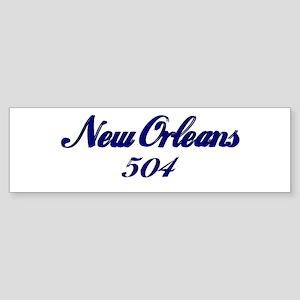 New Orleans 504 area code Bumper Sticker