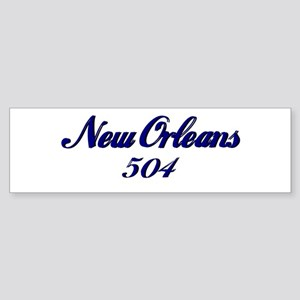 New Orleans 504 area code Bumper Sticker