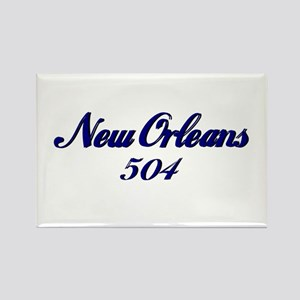 New Orleans 504 area code Rectangle Magnet