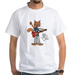 The Jam Cats White T-Shirt