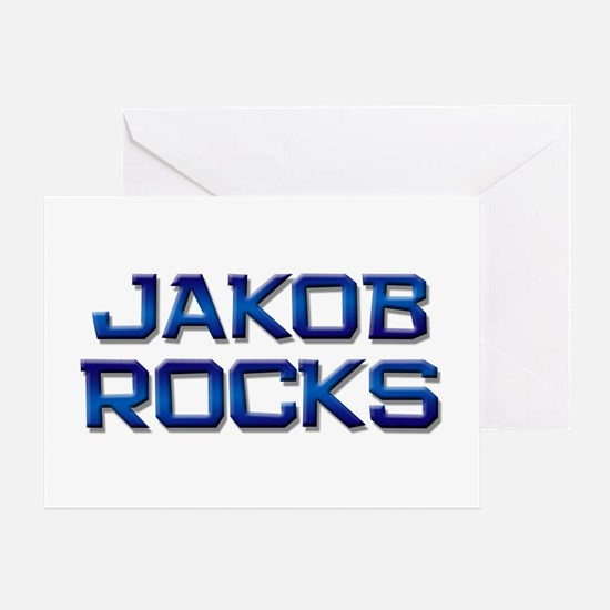 jakob rocks Greeting Card
