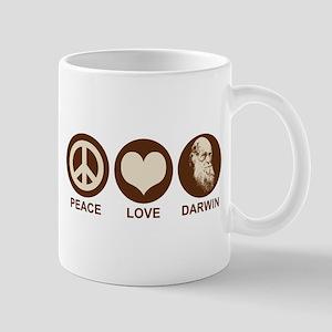 Peace Love Darwin Mug