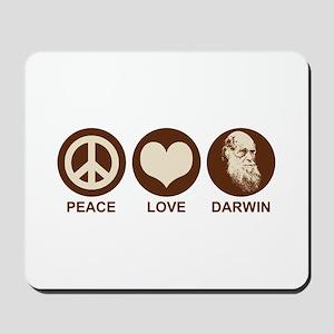 Peace Love Darwin Mousepad