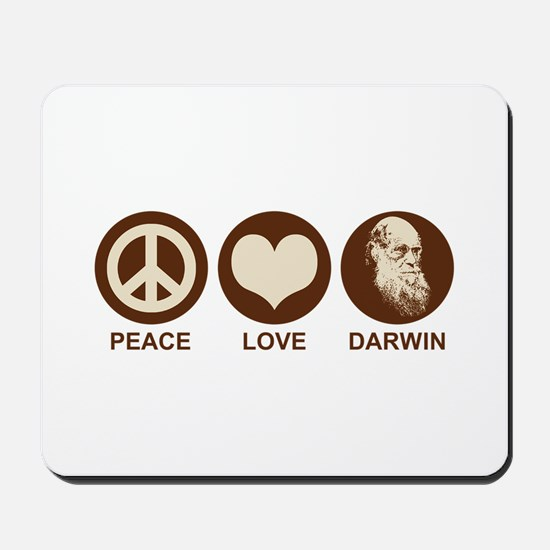 Peace Love Darwin Mousepad