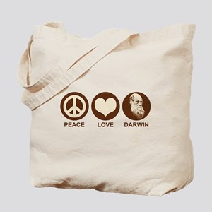 Peace Love Darwin Tote Bag