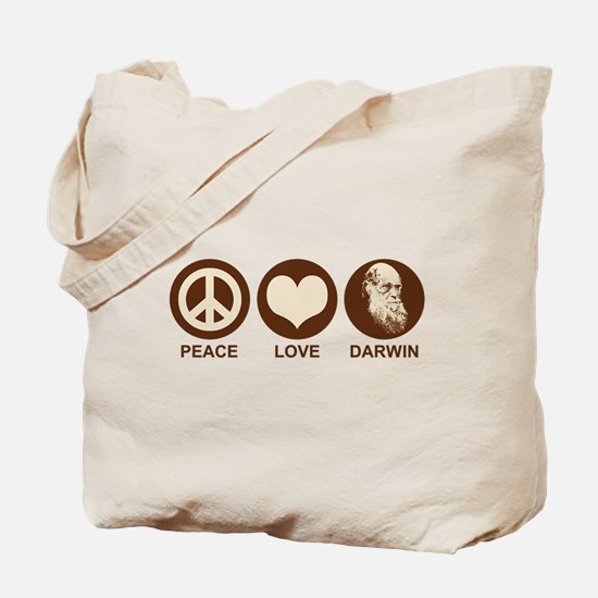 Peace Love Darwin Tote Bag