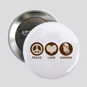 "Peace Love Darwin 2.25"" Button"