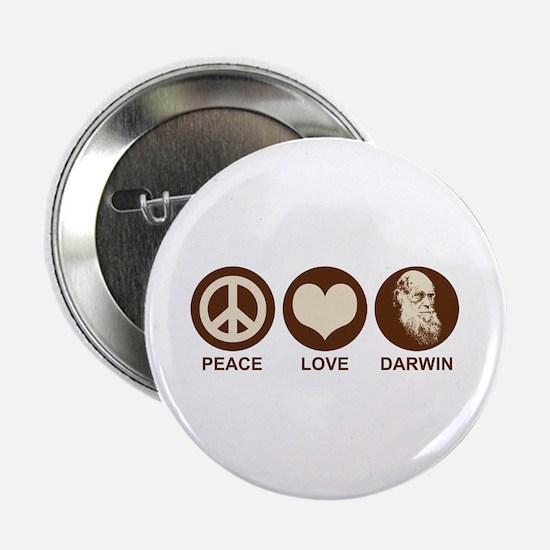 """Peace Love Darwin 2.25"""" Button"""