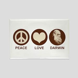 Peace Love Darwin Rectangle Magnet