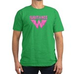 Men's Fitted T-shirt with garish Miami Vice colors