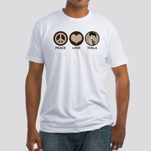 Peace Love Tesla Fitted T-Shirt