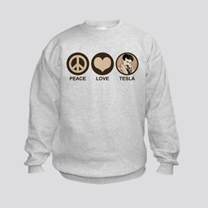Peace Love Tesla Kids Sweatshirt