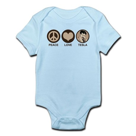 Peace Love Tesla Infant Bodysuit