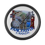 Vancouver Canada Souvenir Large Wall Clock