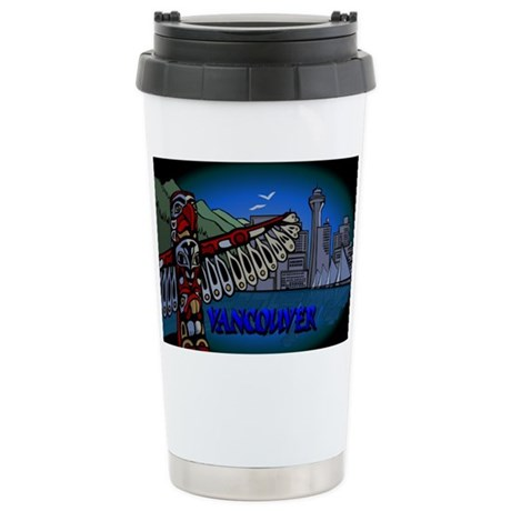 Vancouver Canada 16 oz Stainless Steel Travel Mug