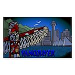 Vancouver Canada Souveni Sticker (rectangle 50 Pk)