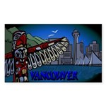 Vancouver Canada Souveni Sticker (Rectangle 10 pk)