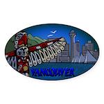 Vancouver Canada Souvenir Sticker (Oval 10 pk)