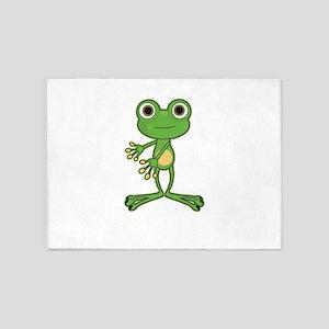 Floss Dance Move Frog 5'x7'Area Rug