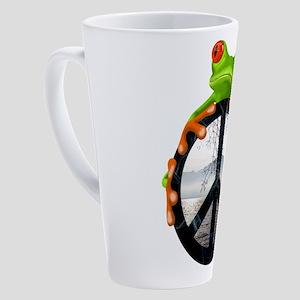 peace frog1 17 oz Latte Mug
