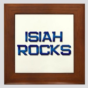 isiah rocks Framed Tile