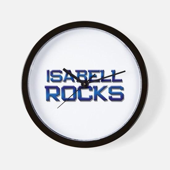 isabell rocks Wall Clock
