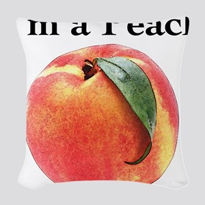 peach Woven Throw Pillow