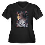 Night Magic Women's Plus Size V-Neck Dark T-Shirt