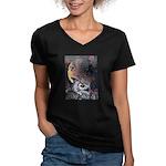Night Magic Women's V-Neck Dark T-Shirt