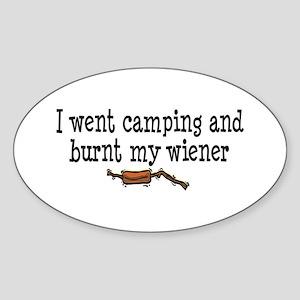 Burnt Wiener Oval Sticker