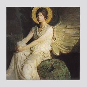 Winged Figure by Thayer Tile Coaster