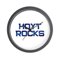 hoyt rocks Wall Clock