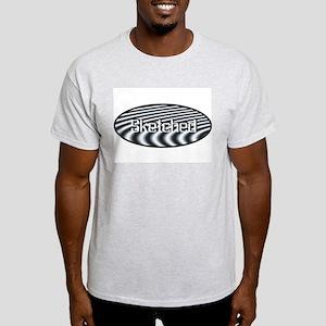 Sketched Ash Grey T-Shirt