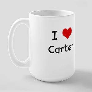 I LOVE CARTER Large Mug