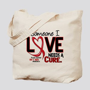 Needs A Cure 2 HIV AIDS Tote Bag