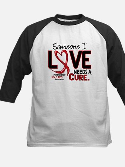 Needs A Cure 2 HIV AIDS Kids Baseball Jersey