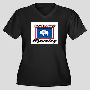 Rock Springs Wyoming Women's Plus Size V-Neck Dark