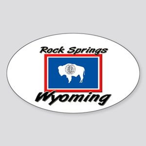 Rock Springs Wyoming Oval Sticker
