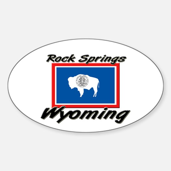 Rock Springs Wyoming Oval Decal