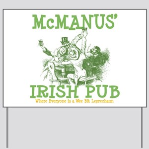 McManus' Irish Pub Personalized Yard Sign