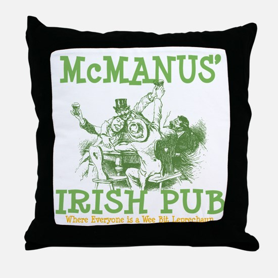 McManus' Irish Pub Personalized Throw Pillow