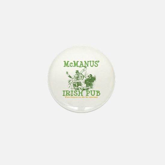 McManus' Irish Pub Personalized Mini Button