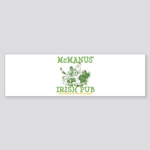 McManus' Irish Pub Personalized Bumper Sticker