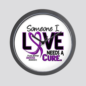 Needs A Cure 2 ANOREXIA Wall Clock